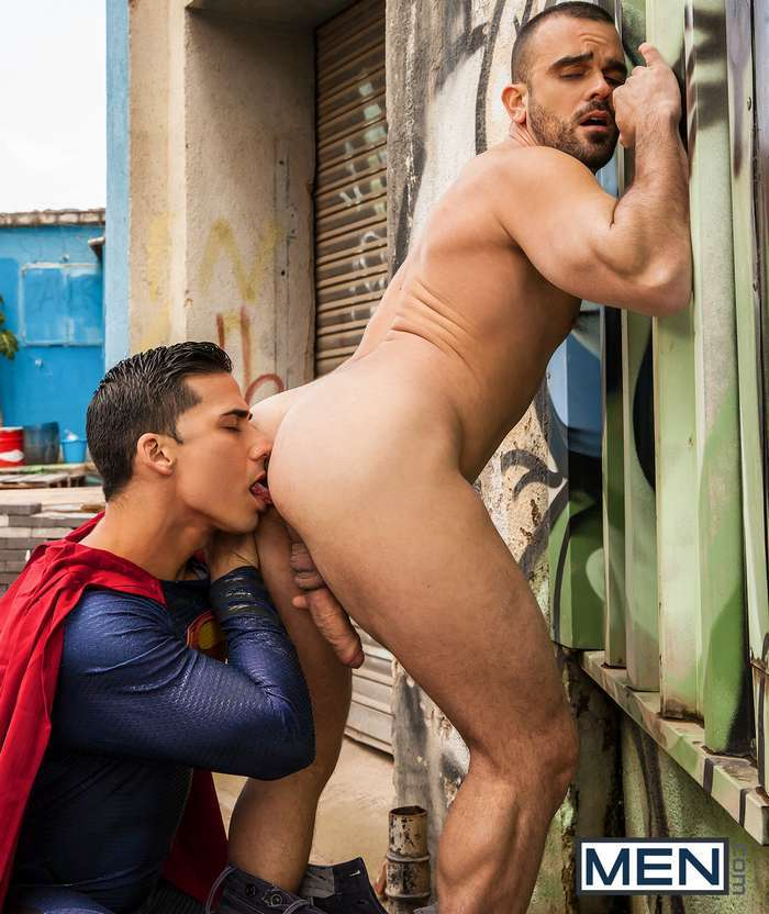 Superman Topher Dimaggio Fucks Damien Crosse In Batman Superman A Gay Porn Parod