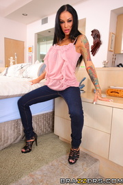 tattooed brunette high heels year ago pics xxxonxxx