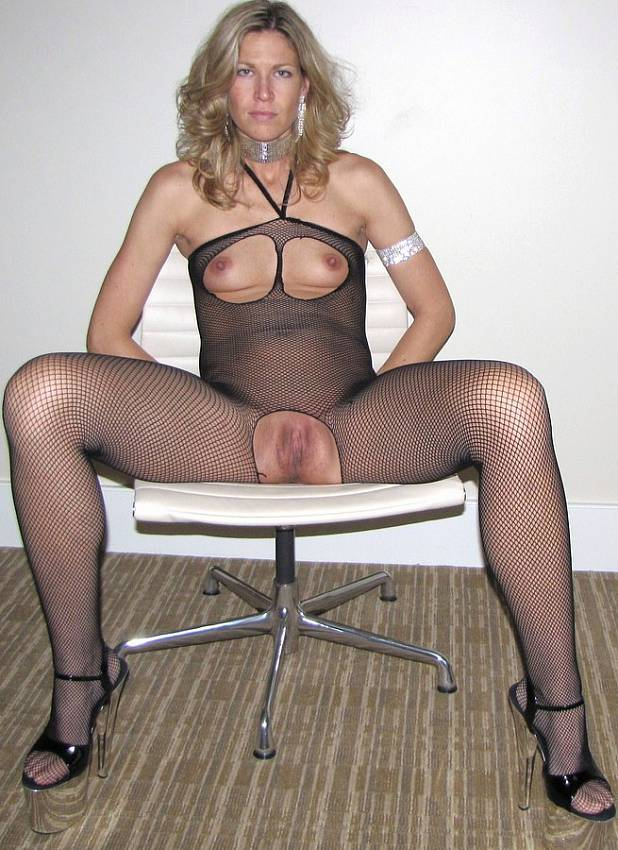 German Blonde Milf Stockings