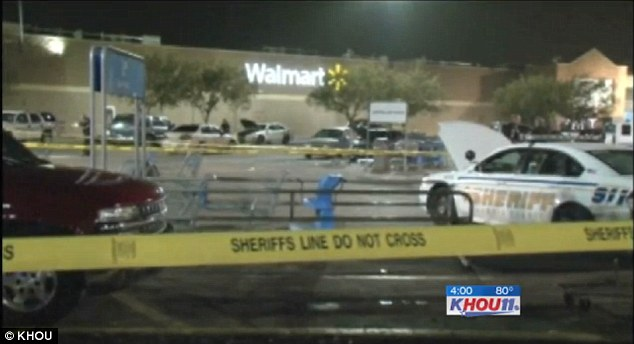 the walmart store at block of the north freeway in houston where the alleged robbery