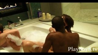 two couples swap partner on a bathtub tmb