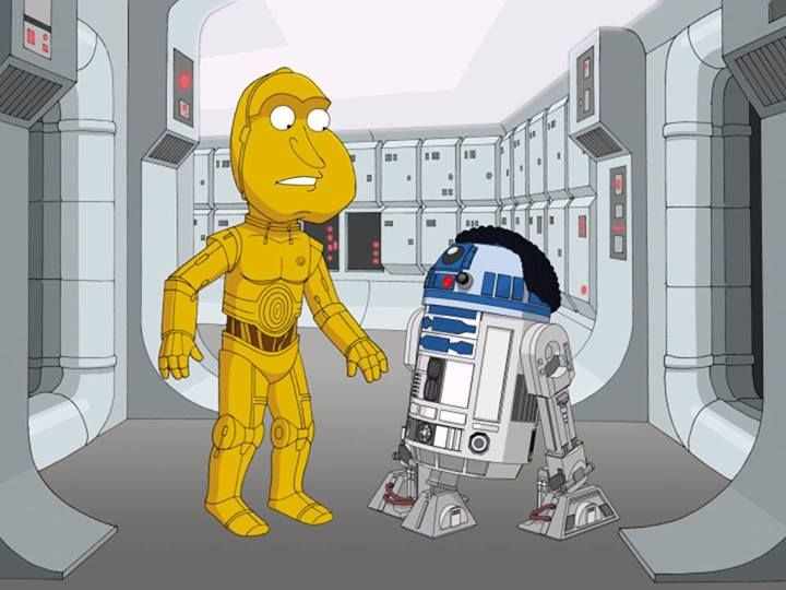 we look back at how shows paid their own tributes to jedis droids and a galaxy far away