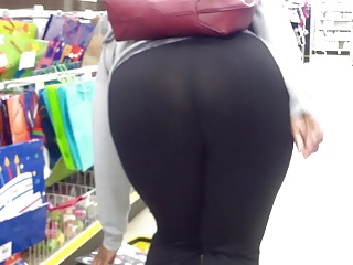 wearing see thru leggings in supermarket porn tube video 1