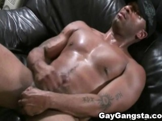 white gay dude sucked big black cock and gets mouth full of cum 1