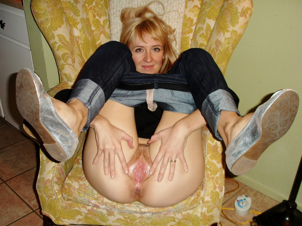 wifes wet pink pussy spread open hot milf spreading her legs