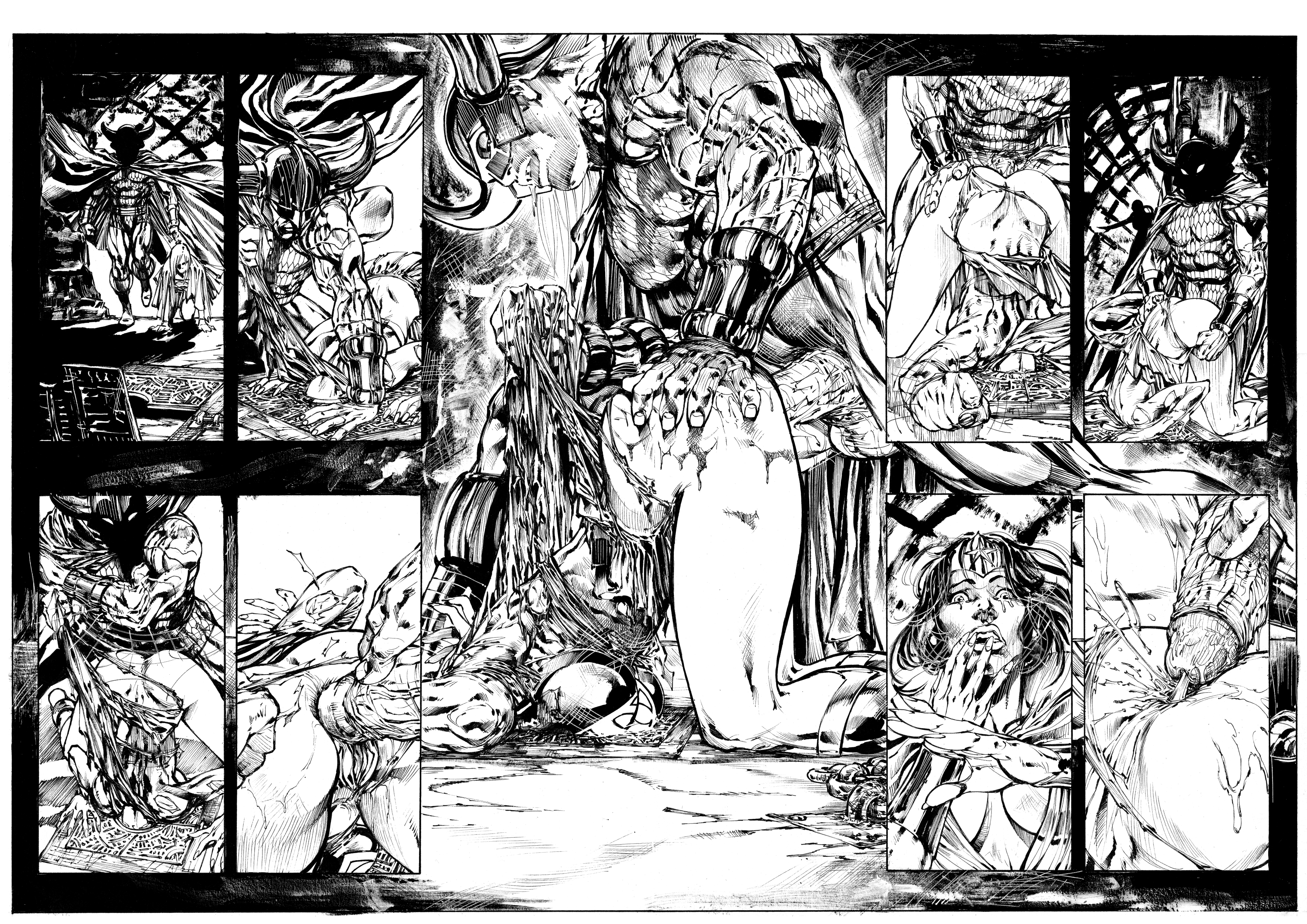 wonder woman warlord part black and white hentai online 4