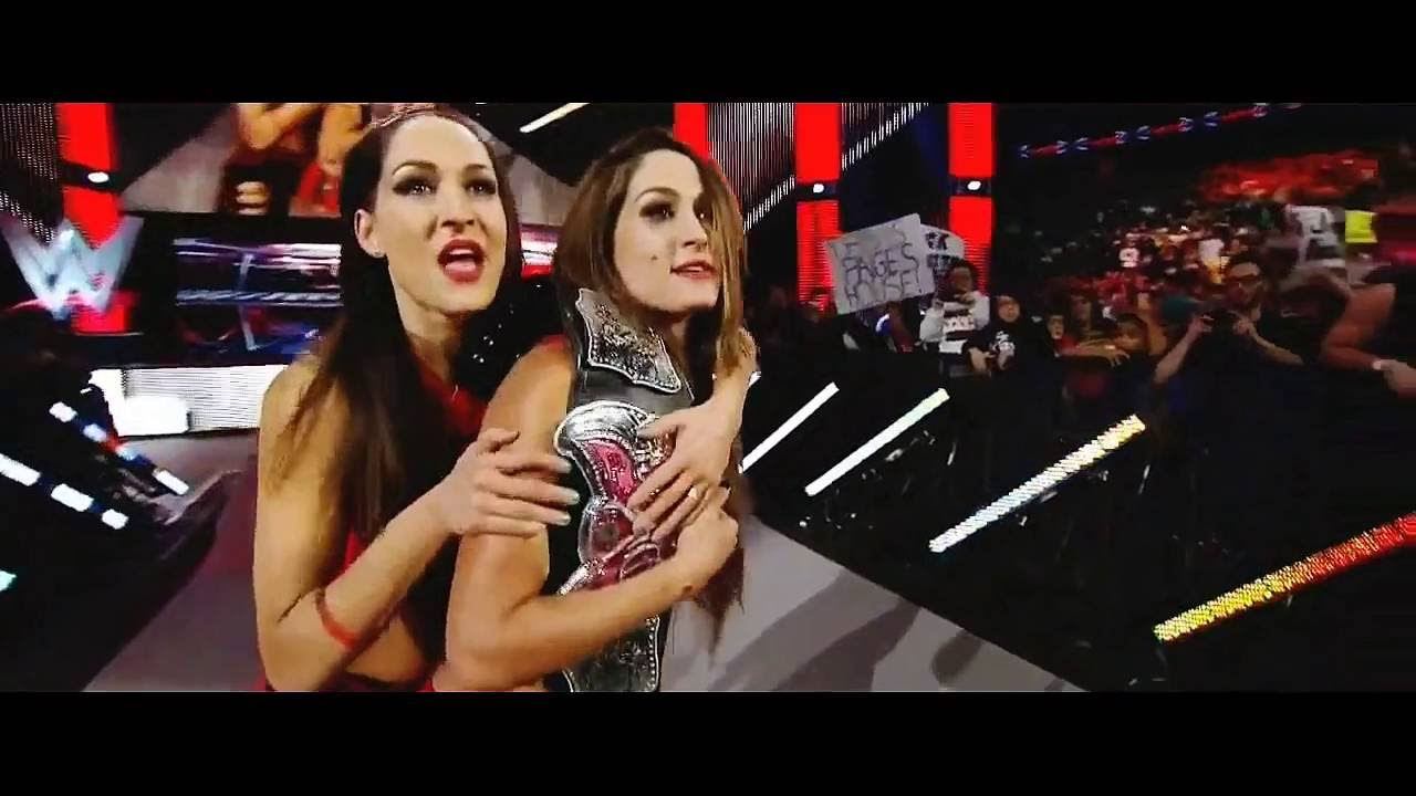 wwe wrestlemania xxxi paige aj lee the bella twins promo eddyspeeding