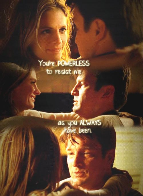 you were powerless to resist me castle beckettcastle tvnathan